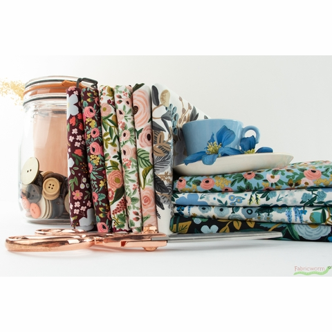 Rifle Paper Co. for Cotton + Steel, Garden Party, Main Party Blue