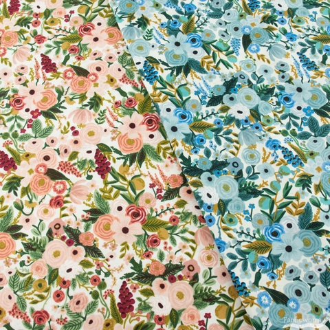 Rifle Paper Co. for Cotton + Steel, Garden Party, Petite Garden Party Blue