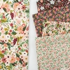 Rifle Paper Co. for Cotton + Steel, Garden Party, Rosa Burgundy Metallic