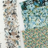 Rifle Paper Co. for Cotton + Steel, Garden Party, Rosa Chambray Metallic