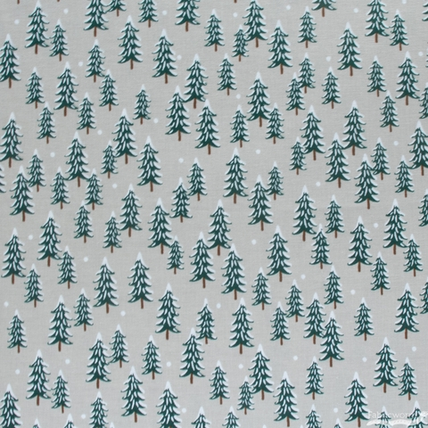 Rifle Paper Co. for Cotton + Steel, Holiday Classics, Fir Trees Linen