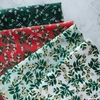 Rifle Paper Co. for Cotton + Steel, Holiday Classics, Mistletoe Red Metallic