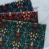 Rifle Paper Co. for Cotton + Steel, Holiday Classics, Partridge Evergreen Metallic