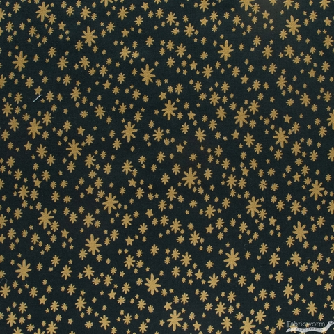 Rifle Paper Co. for Cotton + Steel, Holiday Classics, Starry Night Evergreen Metallic