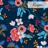 Rifle Paper Co. for Cotton + Steel, Les Fleurs Rayon, Birch Floral Navy