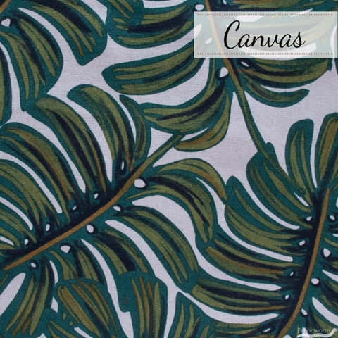Rifle Paper Co. for Cotton + Steel, Menagerie Canvas, Monstera Natural