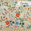 Rifle Paper Co. for Cotton + Steel, Strawberry Fields Canvas, Main Fields Linen Unbleached