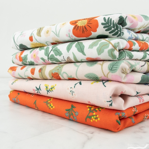 Rifle Paper Co. for Cotton + Steel, Strawberry Fields, Conservatory Bundle 5 Total