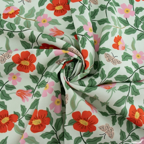 Rifle Paper Co. for Cotton + Steel, Strawberry Fields Rayon, Primrose Mint