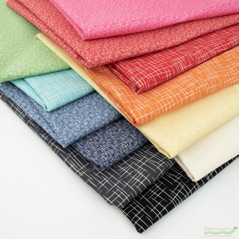 Riley Blake, Hashtag, Rainbow in FAT QUARTERS 12 Total