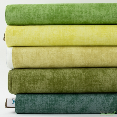 Riley Blake, Shades, Greenery in FAT QUARTERS 5 Total