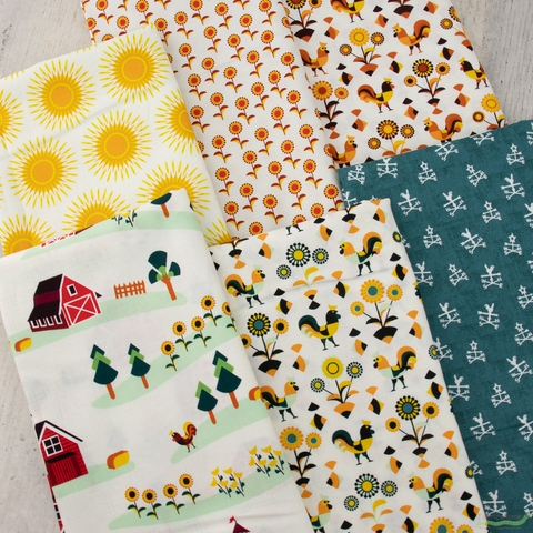 RJR Fabrics, Lil' Bit Country, Anyway The Wind Blows Teal
