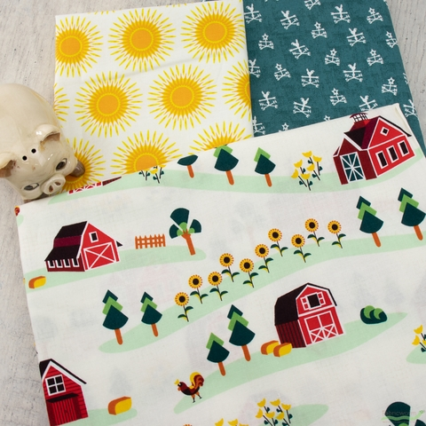 RJR Fabrics, Lil' Bit Country, Barnyard Bundle 6 Total