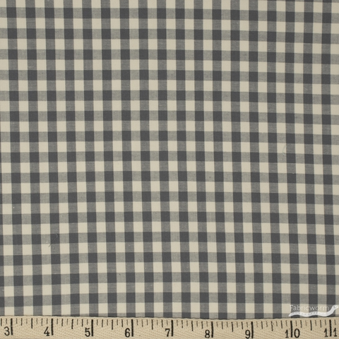 Robert Kaufman, Crawford Gingham, Grey