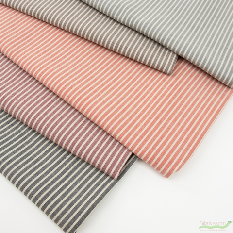Robert Kaufman, Crawford Stripes, Small Stripe Terracotta