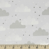 Robert Kaufman, Cuddly Kittens FLANNEL, Clouds Grey