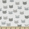 Robert Kaufman, Cuddly Kittens FLANNEL, Kittens Grey