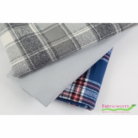 Robert Kaufman, FLANNEL Solids, Grey