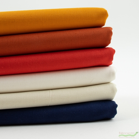 Robert Kaufman, Kona Cotton Solids, Complimentary Spice in HALF YARDS 6 Total