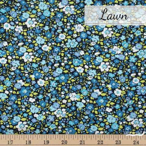 Robert Kaufman, London Calling 9 Lawn, Fragrant Flowers Blueberry