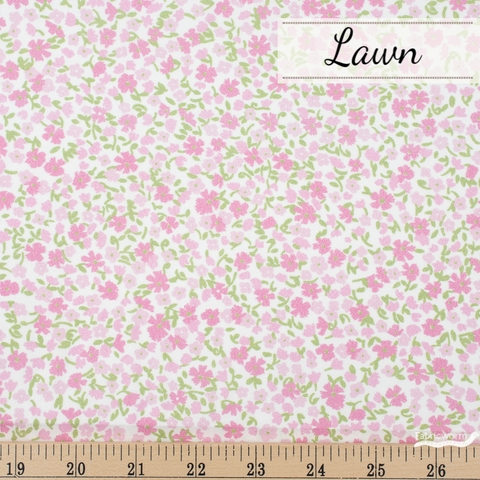 Robert Kaufman, London Calling 9 Lawn, Subtle Beauty Baby Pink