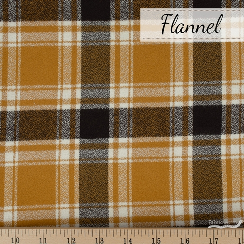 Robert Kaufman, Mammoth FLANNEL, Fireside Saffron