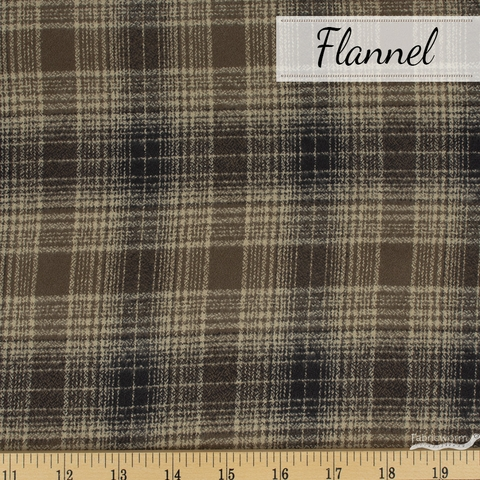 Robert Kaufman, Mammoth FLANNEL, Hearth Chocolate