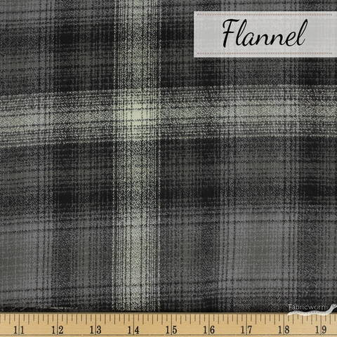Robert Kaufman, Mammoth FLANNEL, Hearth Grey
