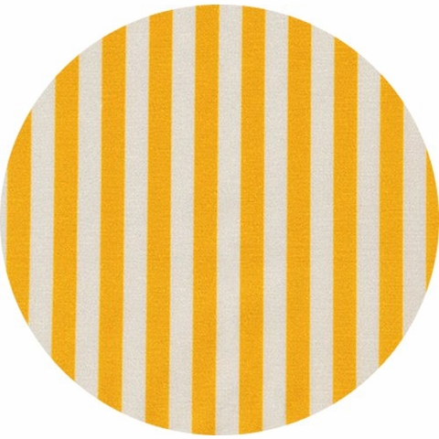 Robert Kaufman, Manhattan Cotton Stretch Poplin, Striped Ochre