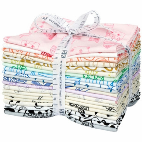 Robert Kaufman, On The Lighter Side 2019, Pre-Cut Fat Quarter Bundle 20 Total