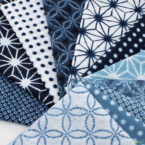 Robert Kaufman, Shibori Blues, Dot Grid Navy
