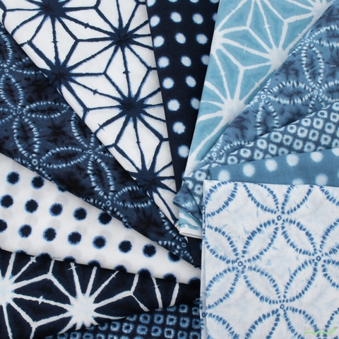 Robert Kaufman, Shibori Blues, Dot Grid White