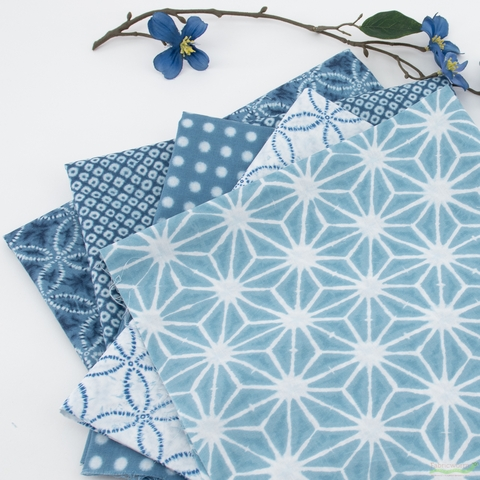 Robert Kaufman, Shibori Blues, Sand Dollar White