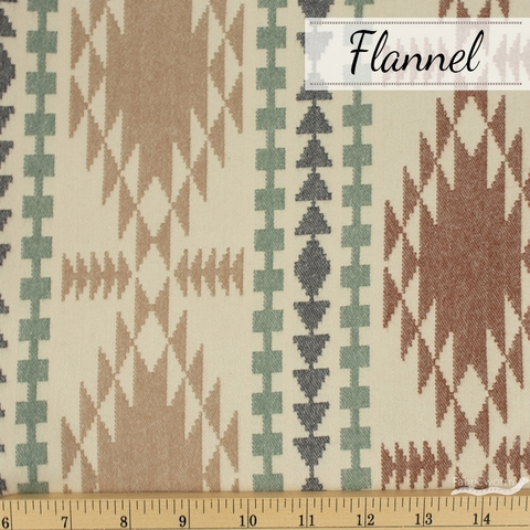 Robert Kaufman, Taos FLANNEL, Mountain Brown