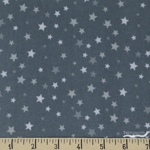 Robert Kaufman, Welcome Baby FLANNEL, Stars Grey