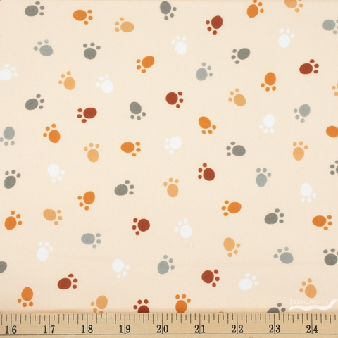 Robert Kaufman, Whiskers and Tails, Paw Prints Natural