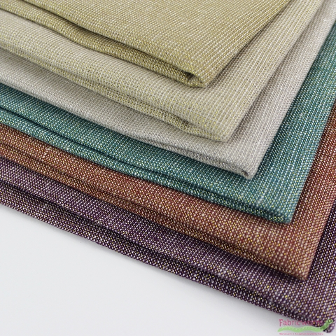 Robert Kaufman, Yarn-Dyed Essex Metallic, LINEN, Copper