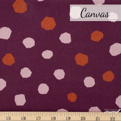 Ruby Star Society, Cotton Linen Canvas 2019, Chunky Dots Berry Fat Quarter