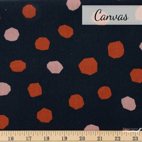 Ruby Star Society, Cotton Linen Canvas 2019, Chunky Dots Indigo