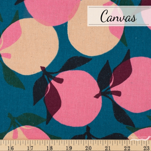 Ruby Star Society, Cotton Linen Canvas 2019, Peaches Teal