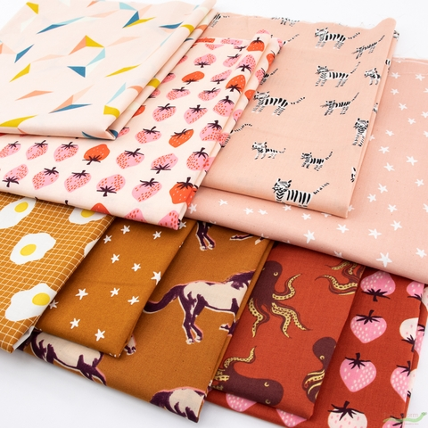 Ruby Star Society, Darlings, Peachy PRE-CUT in FAT QUARTERS 9 Total