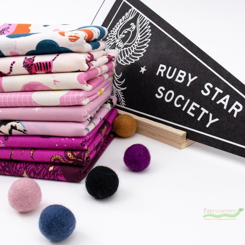 Ruby Star Society, Darlings, Plum PRE-CUT in HALF YARDS 9 Total