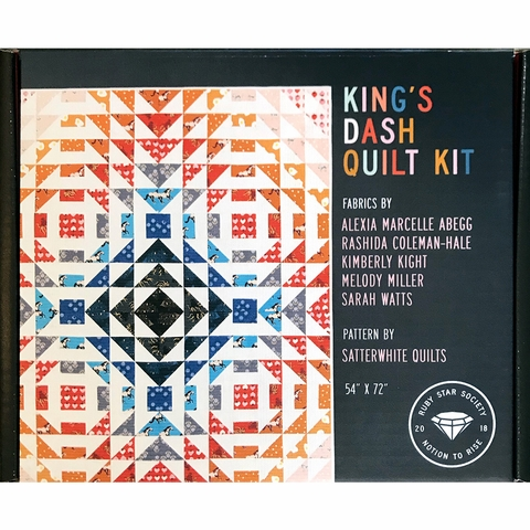 Ruby Star Society Ready to Sew, King's Dash Quilt Kit featuring Darlings