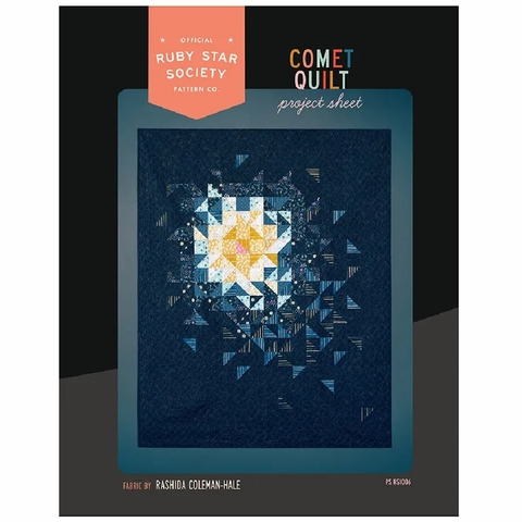 Ruby Star Society, Sewing Project Pattern, Stellar Comet Quilt