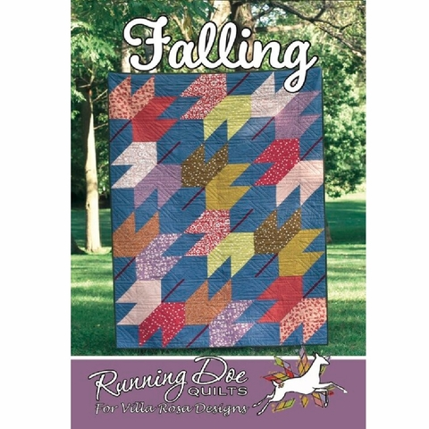 Running Doe Quilts, Sewing Pattern, Falling Quilt