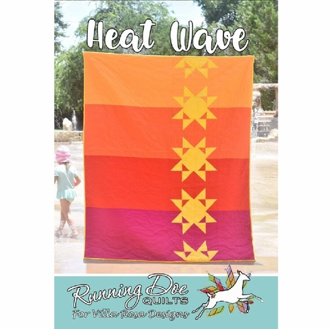 Running Doe Quilts, Sewing Pattern, Heat Wave Quilt