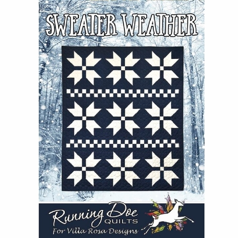 Running Doe Quilts, Sewing Pattern, Sweater Weather Quilt