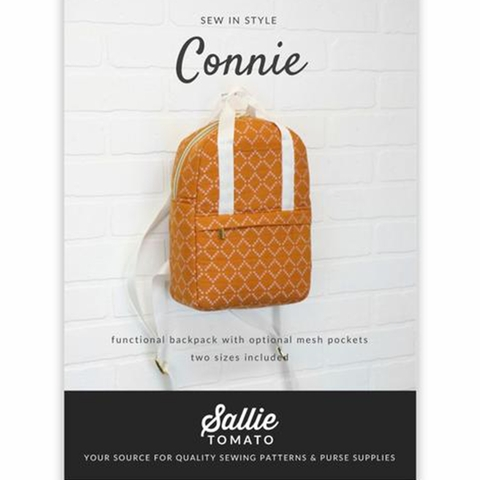 Sallie Tomato, Sewing Pattern, Connie Backpack