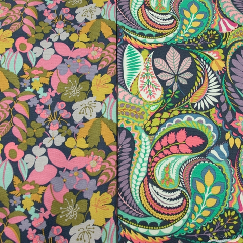 Sally Kelly for Windham, Solstice Canvas, Prince Paisley Multi
