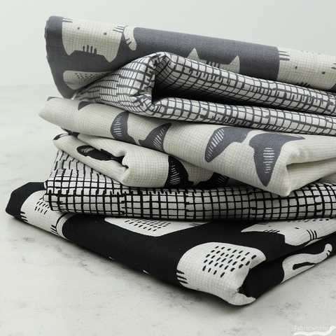 Sarah Golden for Andover, Cats and Dogs, Grid Grey